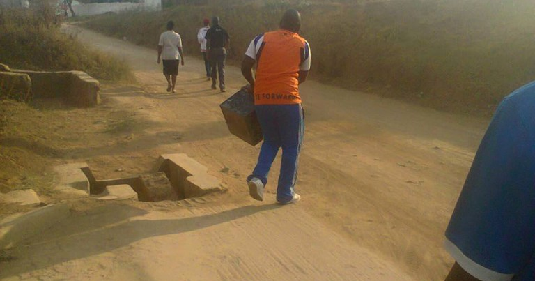 BLANTYRE DERBY GATE COLLECTIONS SCANDAL: WANDERERS OFFICIAL PHOTOGRAPHED RUNNING AWAY WITH A CASH BOX