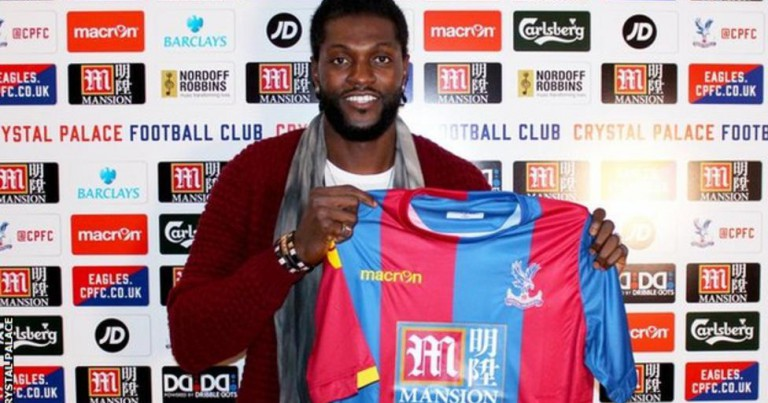 Emmanuel Adebayor: Crystal Palace sign striker on free transfer