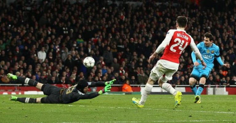 Messi makes way for Barcelona's triumph over Arsenal