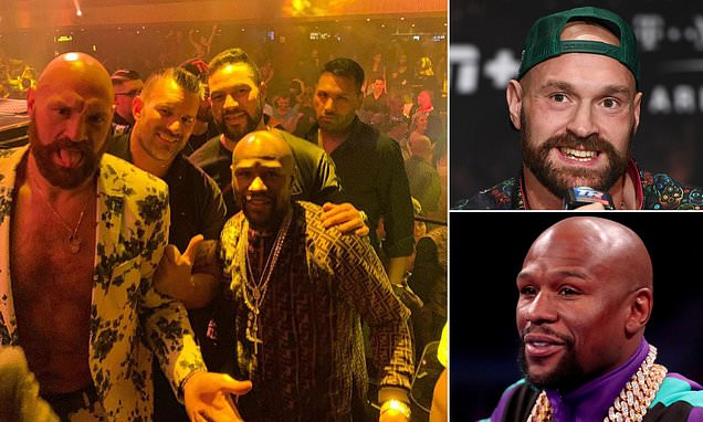 FURY AND MAYWEATHER JOINS FORMER WORLD CHAMPIONS JOSEPH PARKER