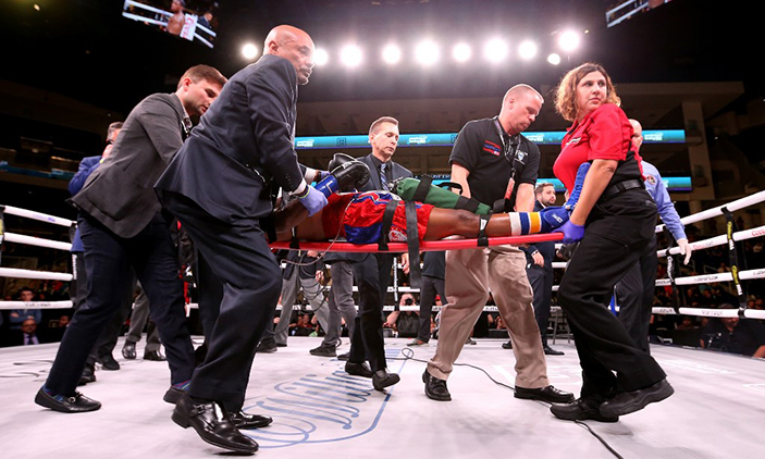 US boxer Day 'extremely critical' after devastating knockout